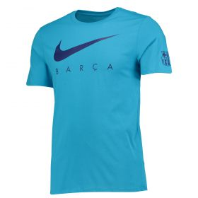 Barcelona Pre Season T-Shirt - Lt Blue