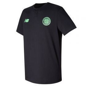 Celtic Elite Media Cotton T-Shirt - Black