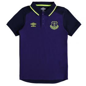 Everton Training CVC Polo - Junior - Parachute Purple/Evening Blue