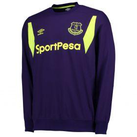 Everton Training Drill Top - Parachute Purple/Safety Yellow