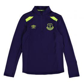 Everton Training Half Zip Top - Junior - Parachute Purple/Safety Yellow