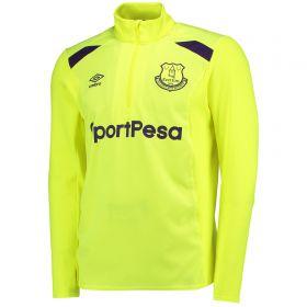 Everton Training Half Zip Top - Safety Yellow/Parachute Purple