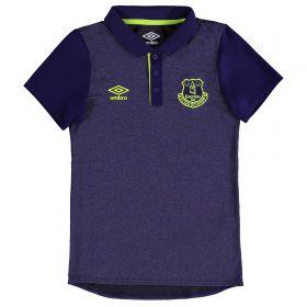 Everton Training Poly Polo - Junior - Parachute Purple/Safety Yellow