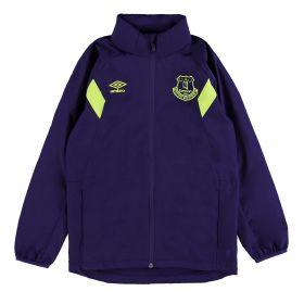 Everton Training Shower Jacket - Junior - Parachute Purple/Safety Yellow