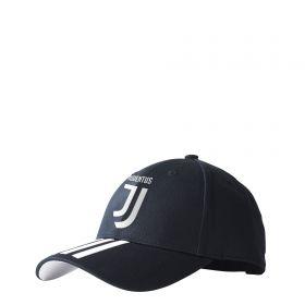 Juventus 3 Stripe Cap - Black