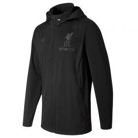 Liverpool Elite Training Motion Rain Jacket - Black