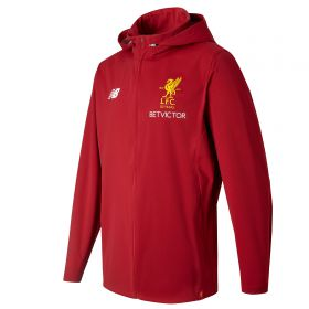 Liverpool Elite Training Motion Rain Jacket - Red Pepper