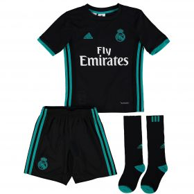 Real Madrid Away Mini Kit 2017-18 with Theo 15 printing