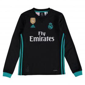 Real Madrid Away Shirt 2017-18 - Kids - Long Sleeve with Theo 15 printing