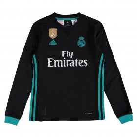 Real Madrid Away Shirt 2017-18 - Kids - Long Sleeve with Vallejo 3 printing