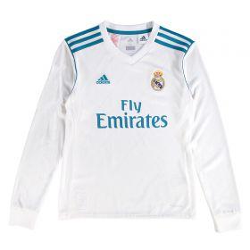 Real Madrid Home Shirt 2017-18 - Kids - Long Sleeve with Theo 15 printing
