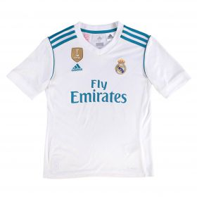 Real Madrid Home Shirt 2017-18 - Kids with Vallejo 3 printing