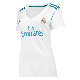 Real Madrid Home Shirt 2017-18 - Womens with Vallejo 3 printing