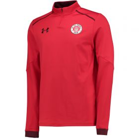 St Pauli 1/4 Zip Training Top - Red