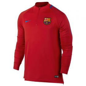 Barcelona Squad Drill Top - Red