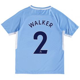 Manchester City Home Stadium Shirt 2017-18 - Kids with Walker 2 printing