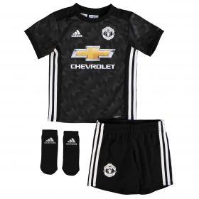 Manchester United Away Baby Kit 2017-18 with Lukaku 9 printing