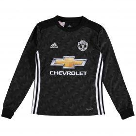 Manchester United Away Shirt 2017-18 - Kids - Long Sleeve with Lukaku 9 printing