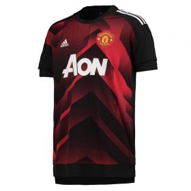 Manchester United Home Pre Match Shirt - Red - Kids