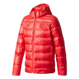 Manchester United Hooded Down Jacket - Red