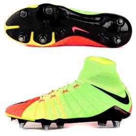 Nike Hypervenom Phantom III Soft Ground Pro Football Boots - Electric Green/Black/Hyper Orange/Volt