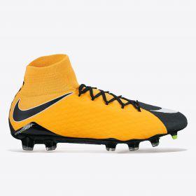 Nike Hypervenom Phatal III Dynamic Fit Firm Ground Football Boots - Laser Orange/White/Black/Volt