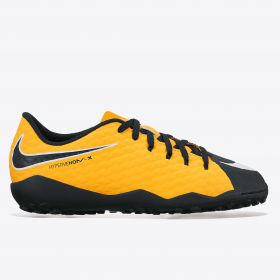 Nike Hypervenom Phelon III Astroturf Trainers - Laser Orange/Black/Black/Volt - Kids