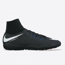 Nike Hypervenom Phelon III Dynamic Fit Astroturf Trainers - Black/White/Dark Grey