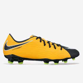 Nike Hypervenom Phelon III Firm Ground Football Boots - Laser Orange/Black/Black/Volt