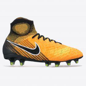 Nike Magista Obra II Firm Ground Football Boots - Laser Orange/Black/White/Volt - Kids