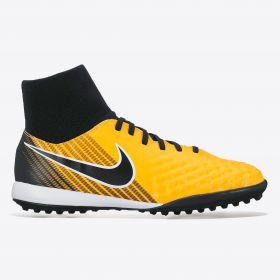 Nike Magista Onda II Dynamic Fit Astroturf Trainers - Laser Orange/Black/White/Volt - Kids
