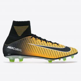 Nike Mercurial Veloce III Dynamic Fit Firm Ground Football Boots - Laser Orange/Black/White/Volt