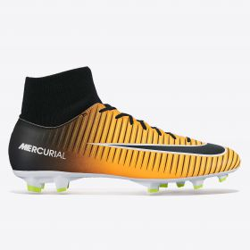Nike Mercurial Victory VI Dynamic Fit Firm Ground Football Boots - Laser Orange/Black/White/Volt