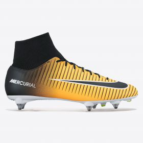 Nike Mercurial Victory VI Dynamic Fit Soft Ground Football Boots - Laser Orange/Black/White/Volt