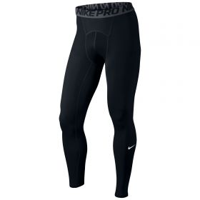 Nike Pro Combat Baselayer Tights - Black/Dark Grey/White