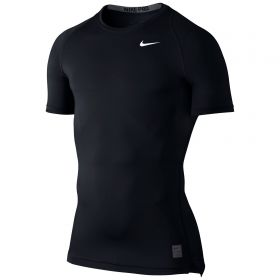 Nike Pro Combat Baselayer Top - Black/Dark Grey/White