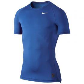Nike Pro Combat Baselayer Top - Game Royal/Deep Royal Blue/White