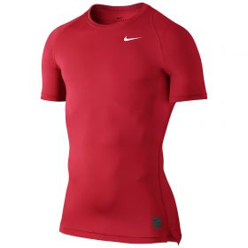Nike Pro Combat Baselayer Top - University Red/Gym Red/White