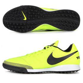 Nike Tiempo Genio II Leather Astroturf Trainers - Volt/Black/Volt