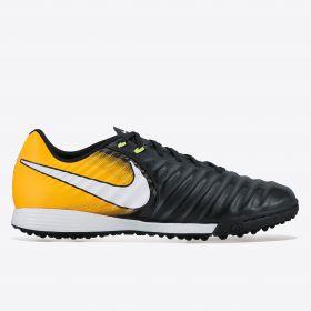 Nike Tiempo Ligera IV Astroturf Trainers - Black/White/Laser Orange/Volt