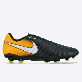 Nike Tiempo Ligera IV Firm Ground Football Boots - Black/White/Laser Orange/Volt