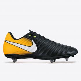 Nike Tiempo Ligera IV Soft Ground Football Boots - Black/White/Laser Orange/Volt