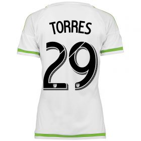 Seattle Sounders Away Shirt 2015-16 - Womens with Torres 29 printing