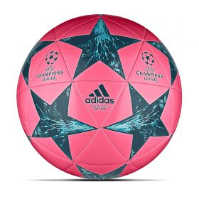 adidas UEFA Champions League Finale 17 Capitano Football - Energy Pink/Petrol Night/Mystery Petrol - Size 5
