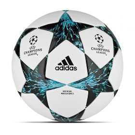 adidas UEFA Champions League Finale 17 Official Match Football - White/Core Black/Dark Green - Size 5