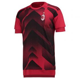 AC Milan Home Pre Match Shirt - Black - Kids