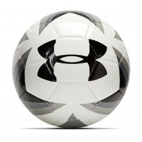 Aston Villa Under Armour 395 Football - White/Steel/Black - Size 5