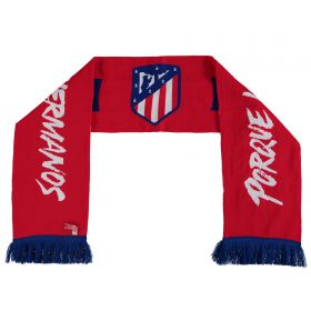 Atletico de Madrid Double Central Shield Scarf - Red - Adult