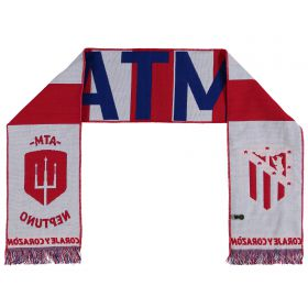 Atletico de Madrid Vertical Trident Scarf - Red - Adult