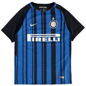 Inter Milan Home Stadium Shirt 2017-18 - Kids with Kondogbia 7 printing
